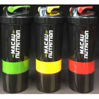 Macau Nutrition 3 in 1 Compartments Shaker - 500ml